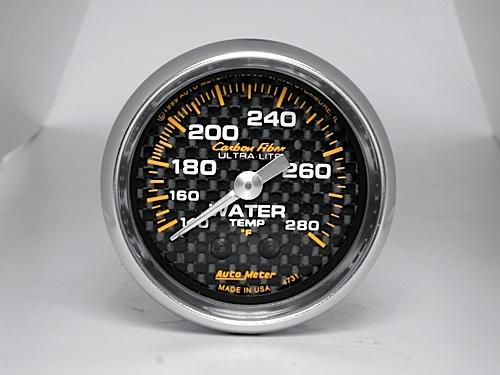 Temperatura de Agua Autometer Carbon Fiber