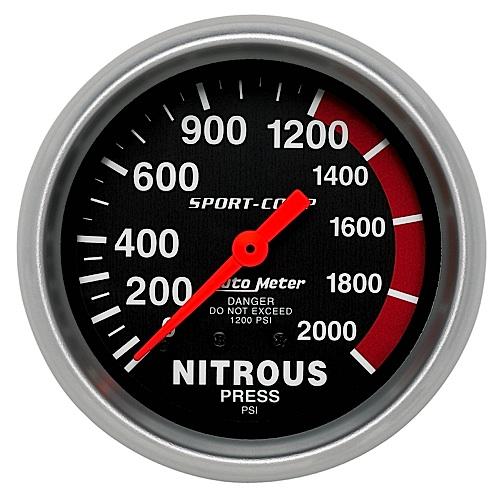Presión de Nitro Autometer #3428 / 0-2000 lbs